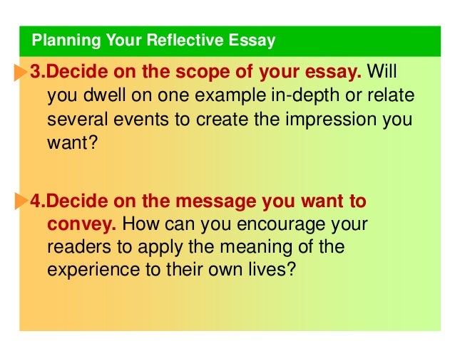 a reflective essay on