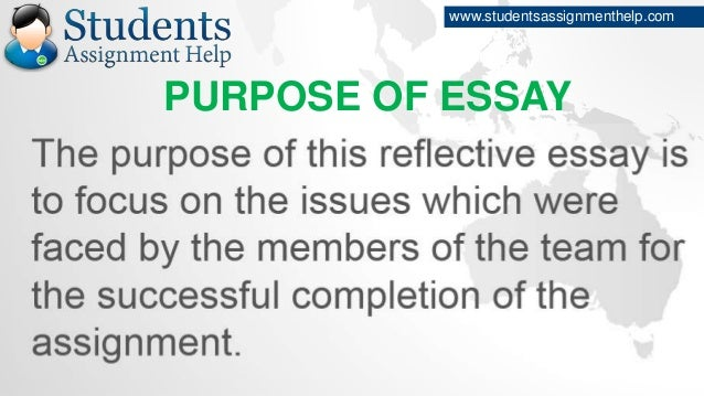reflective essay on teamwork purpose of essay studentsassignmenthelp com