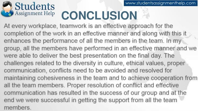 reflective essay on teamwork - Example Of A Conclusion For An Essay