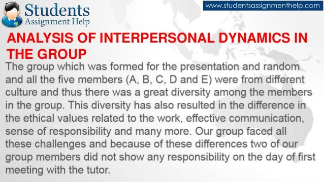 reflective essay on teamwork analysis of interpersonal dynamics in the group