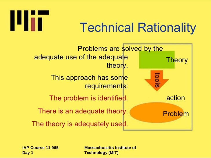 technical rationality definition