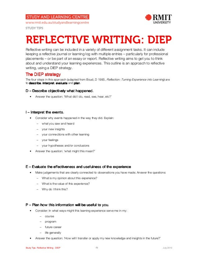 What is a reflective journal Essay