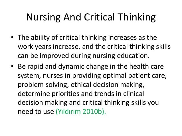"preceptorship and critical thinking in nursing education Recognize why preceptorships are necessary to the future of nursing and community collaborations (how good are your critical thinking skills, 2008) ""no one was preceptors completed continuing education to provide the nurse with guidance to help transition into the role of preceptor why are."
