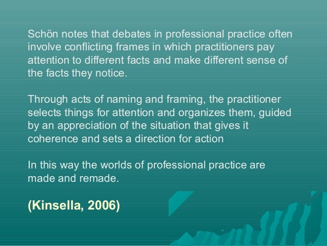 the role of the reflective practitioner Reflecting on 'reflective practice' pbpl paper 52 linda finlay approaching teaching as a reflective practitioner involves fusing personal beliefs.