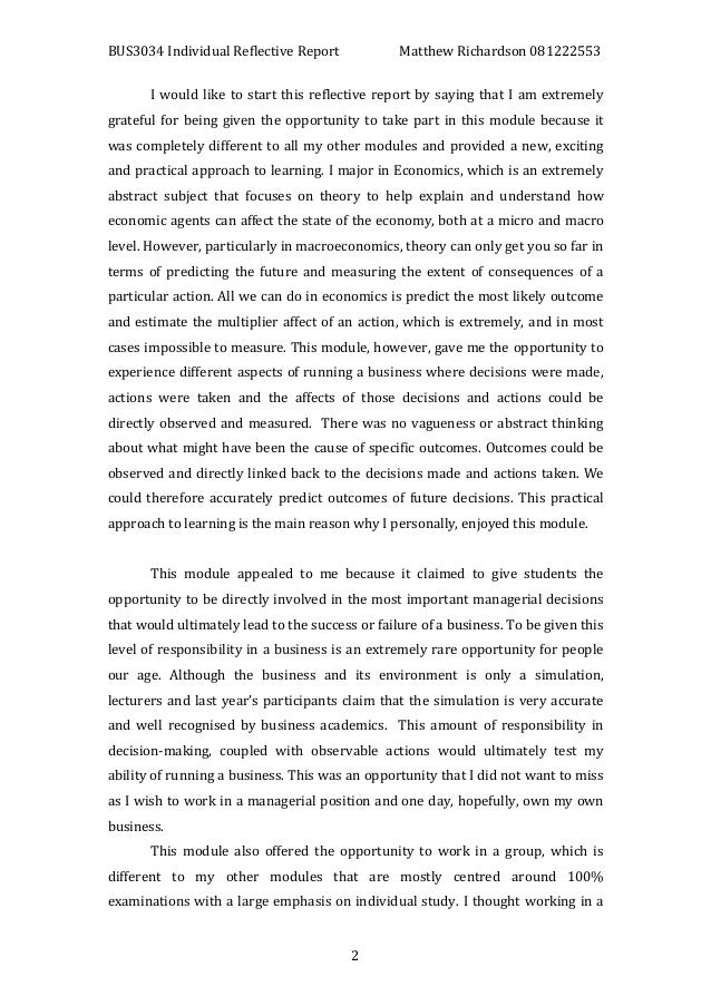 a personal reflective essay Writepass - essay writing - dissertation topics [toc]introductionbodyconclusionreference listrelated introduction this essay will examine my personal self development in relation to self-awareness and listening skills personal development refers to a set of activities that one can engage in for the purpose of enhancing self knowledge and identity.