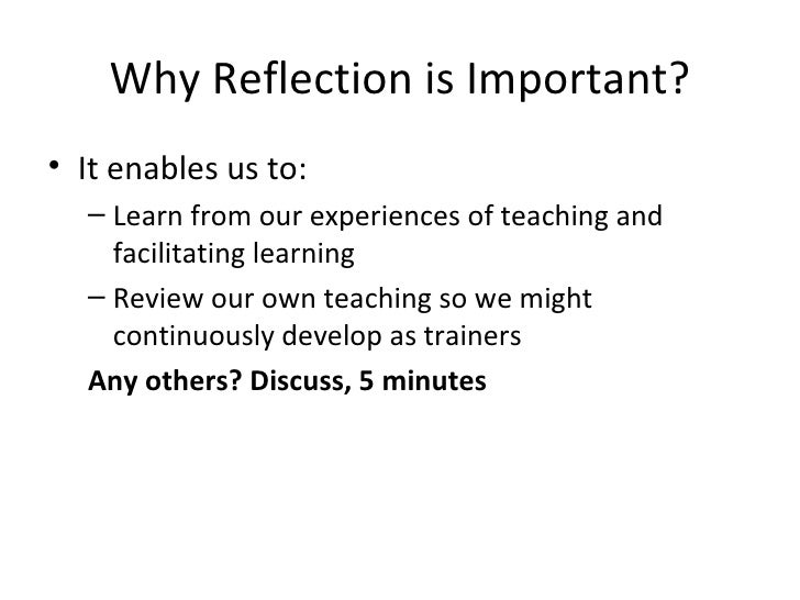 Reflection And Review Strategies Reflective strategies