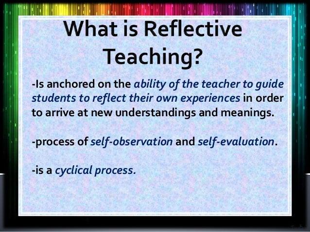 Reflective Teaching powerpoint mkdds