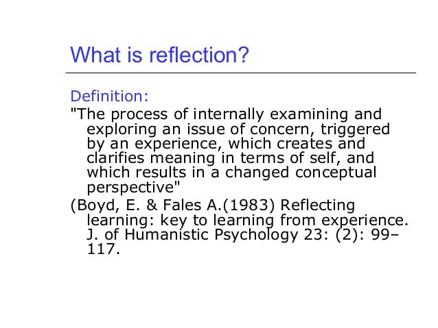 What is reflective essay