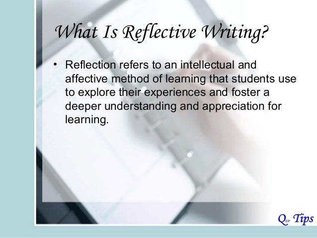 reflective writing models
