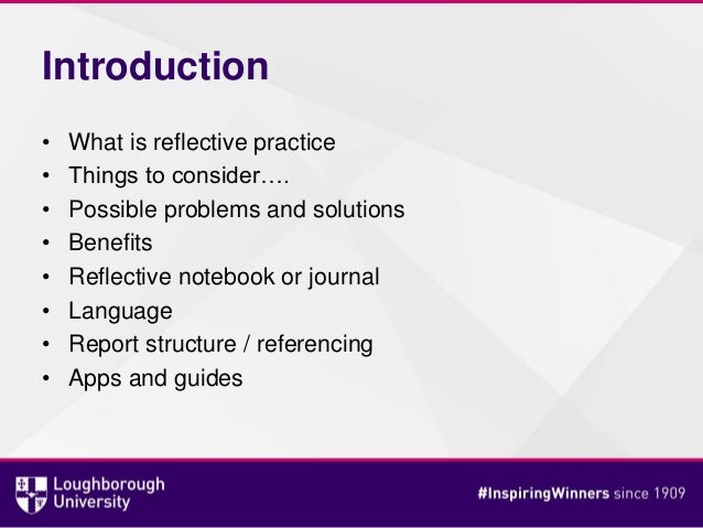 reflective journal structure
