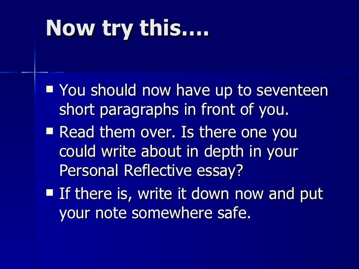 in a reflective essay you should apex This is a presentation explaining the process of writing reflective essays it includes structuring the essay using a reflective model and suggestions for intr.