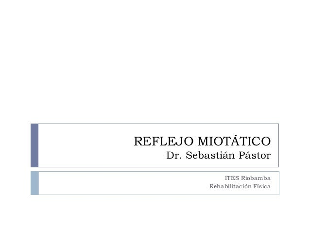 REFLEJO MIOTÁTICODr. Sebastián PástorITES RiobambaRehabilitación Física
