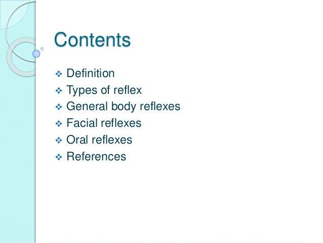Reflexes present in infants Slide 2