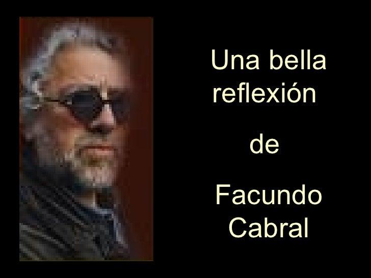 Reflexion Facundo Cabral