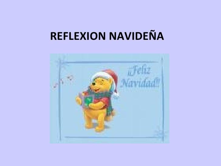 REFLEXION NAVIDEÑA