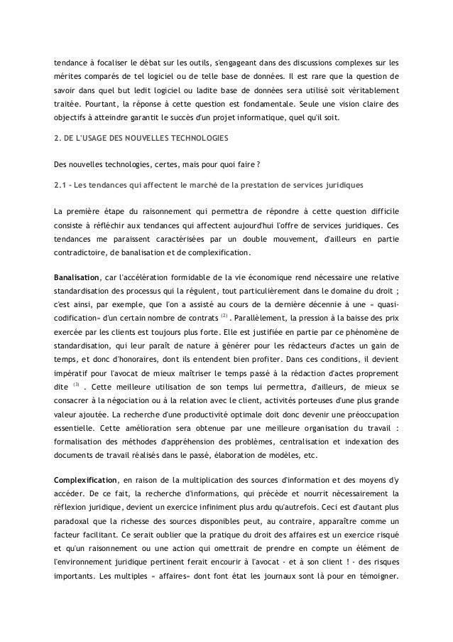 """Réflexion sur l'urgence et la nécessité pour les avocats d'adopter un système de """"Knowledge Management"""" Slide 2"""