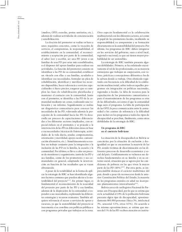 172Díaz-Aristizabal U et al.                            (madres, OPD, escuelas, postas sanitarias, etc.),      Otro aspect...