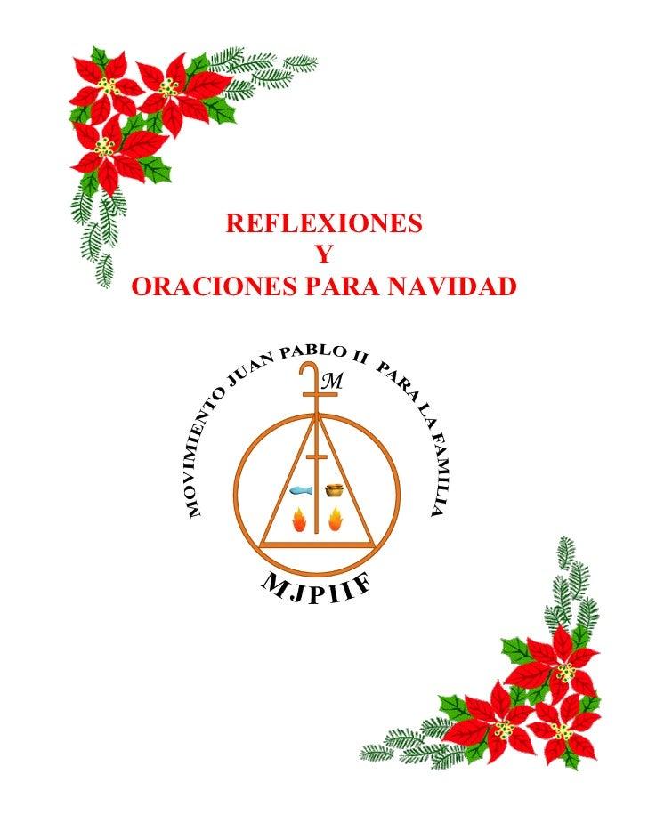 Reflexiones y oraciones para navidad