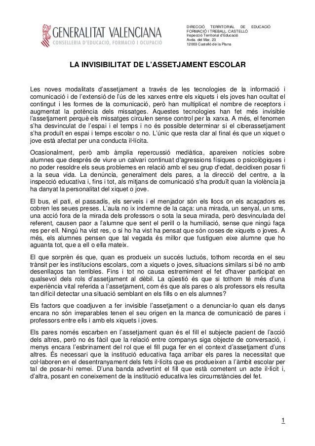 DIRECCIÓ TERRITORIAL DE          EDUCACIÓ                                                         FORMACIÓ I TREBALL. CAST...