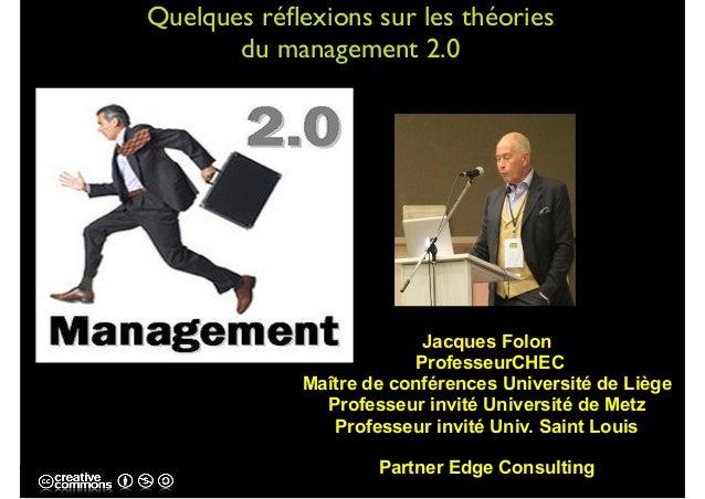 Jacques Folon ProfesseurCHEC Maître de conférences Université de Liège Professeur invité Université de Metz Professeur inv...