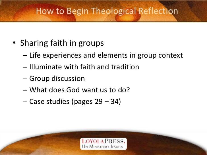 Theological Reflection - Fr. Robert Hater