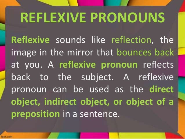Reflexive and Intensive Pronouns – Reflexive and Intensive Pronouns Worksheet