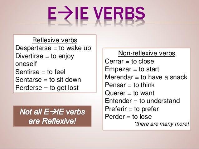 reflexive stem changing verbs
