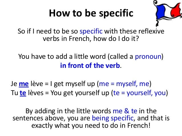 reflexive verbs french
