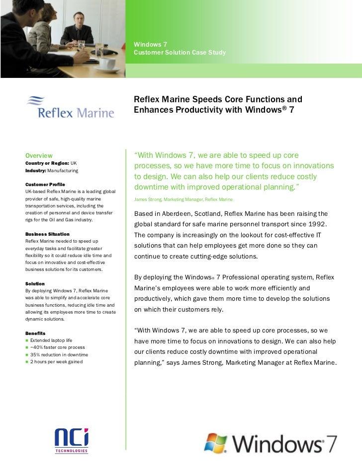 Windows 7                                               Customer Solution Case Study                                      ...