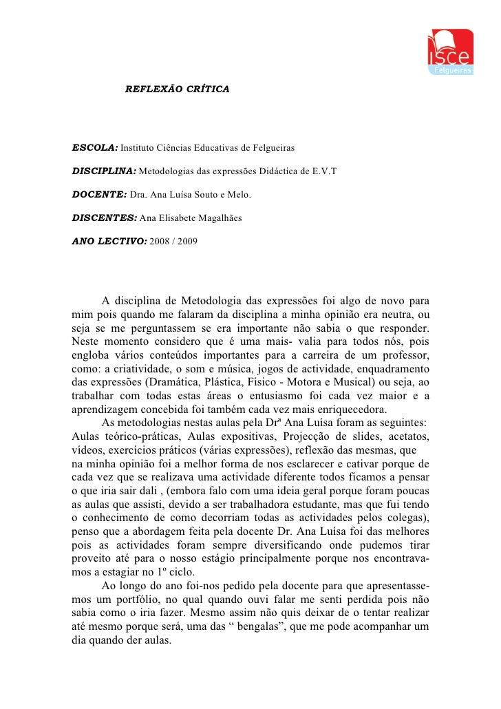 Modelo de relatorio critico