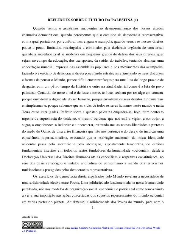 Ana da Palma está licenciado sob uma licença Creative Commons Atribuição-Uso não-comercial-No Derivative Works 2.5 Portuga...
