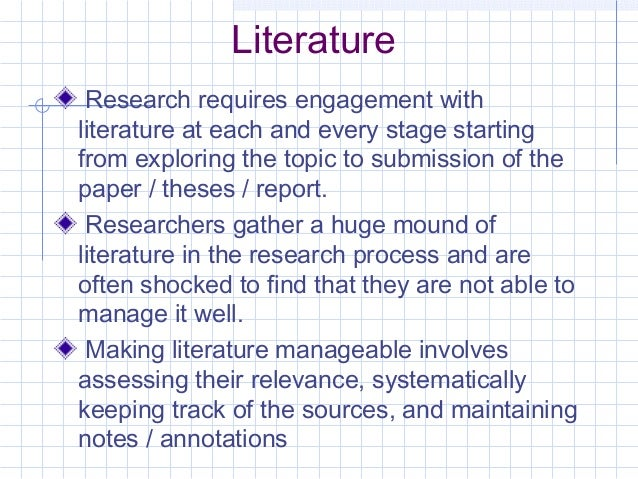 Use of Reference Management Software in Research by V. Sriram Slide 3