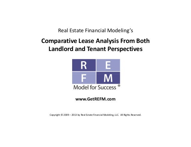 REFM Commercial Real Estate Comparative Lease Analysis