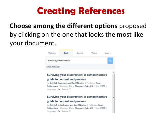 ideas of citing references with apa format for your description