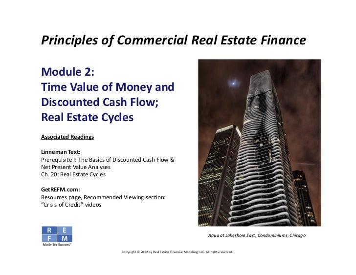PrinciplesofCommercialRealEstateFinanceModule2:TimeValueofMoneyandDiscountedCashFlow;RealEstateCyclesAsso...