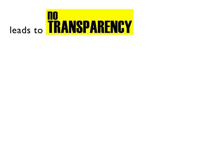 no            TRANSPARENCY leads to