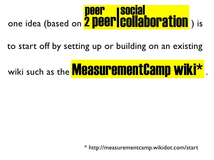 I                    peer social one idea (based on 2 peer collaboration ) is  to start off by setting up or building on a...