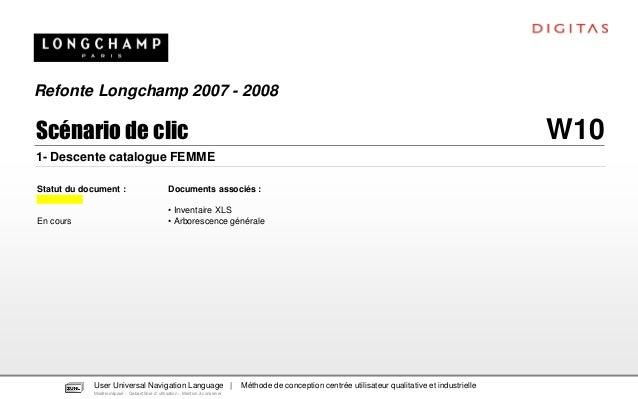 Refonte Longchamp 2007 - 2008Scénario de clic                                                                             ...