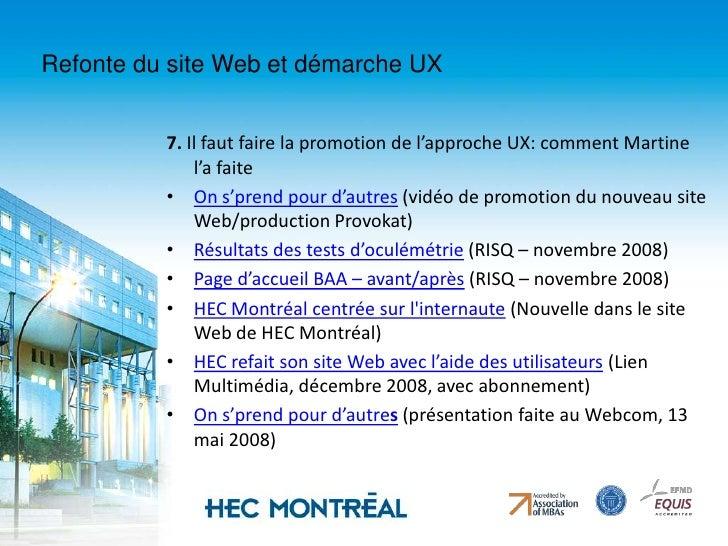 Refonte du site Web et démarche UX<br />3. Objectifs de la refonte<br />Arrimer le nouveau site Web aux stratégies de déve...