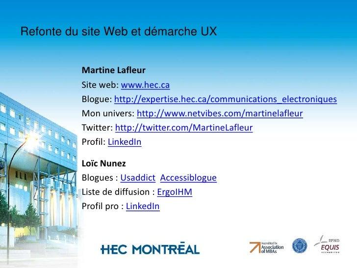 Refonte du site Web et démarche UX<br />4. Comment y arriver:<br />Création d'une nouvelle architecture et ergonomie du si...