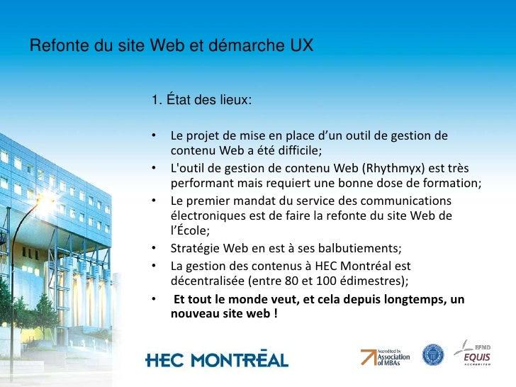 En 2005, HEC Montréal implante un système de gestion de contenu Web (CMS) qui permet à nos nombreux édimestres de mettre à...