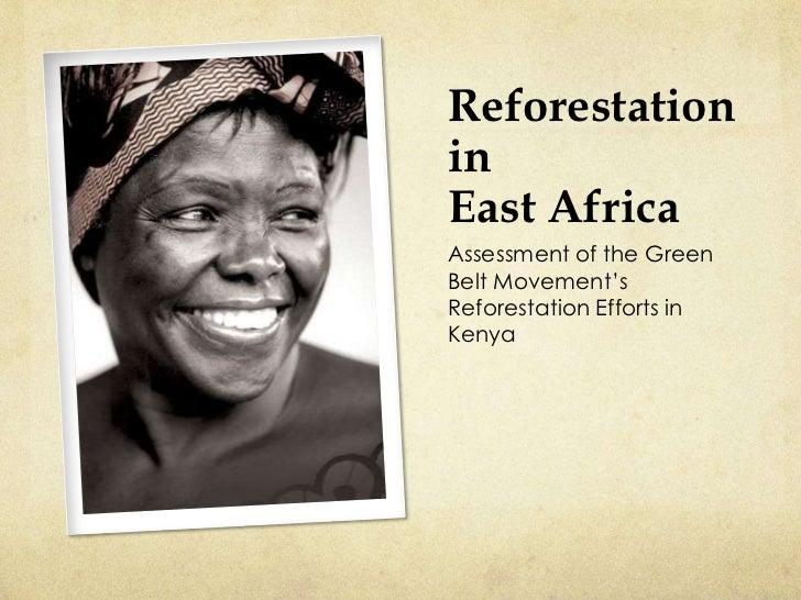ReforestationinEast AfricaAssessment of the GreenBelt Movement'sReforestation Efforts inKenya
