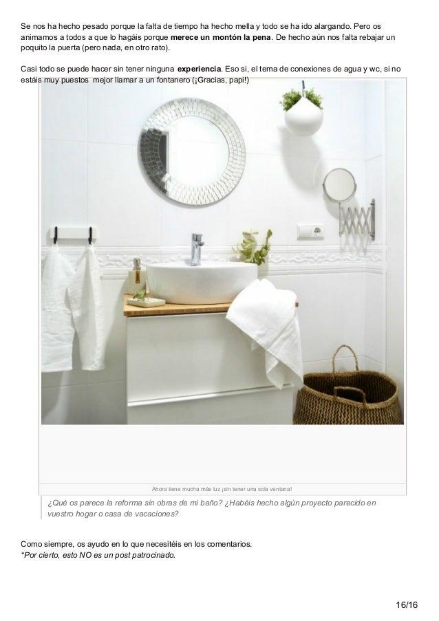 Reforma tu bao sin obras affordable perfect de hacer la - Cambiar suelo cocina sin quitar muebles ...