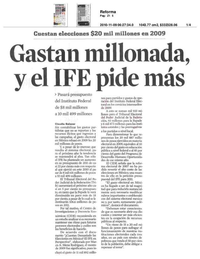Reforma 2010-11-09 06:27:34.0 1043.77 cm2, $332328.06 1/4 Pag: Z1 5