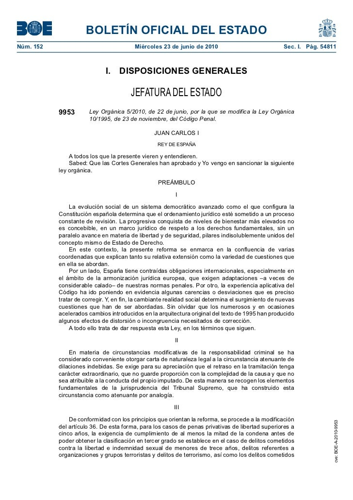 BOLETÍN OFICIAL DEL ESTADONúm. 152                                 Miércoles 23 de junio de 2010                          ...