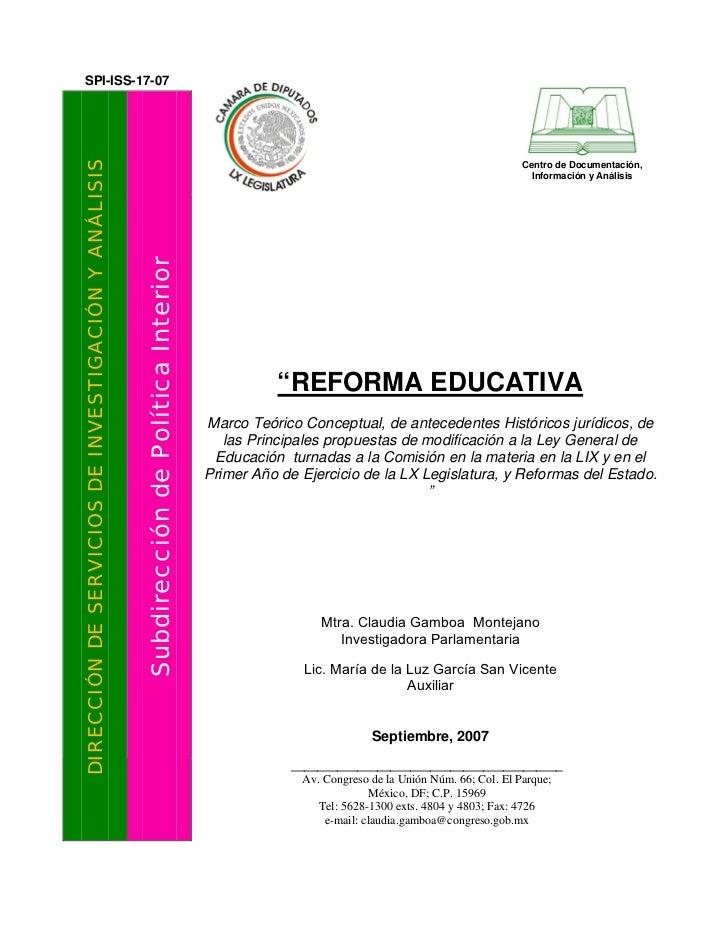 SPI-ISS-17-07DIRECCIÓN DE SERVICIOS DE INVESTIGACIÓN Y ANÁLISIS                                                           ...