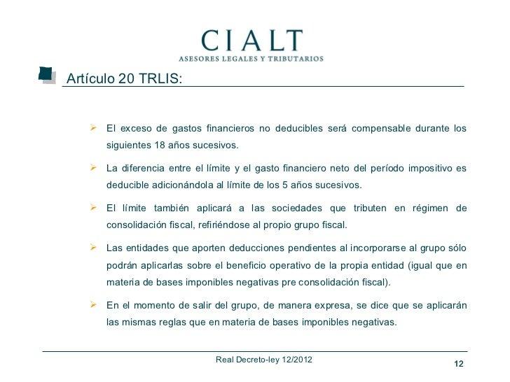 real decreto ley 12 2012