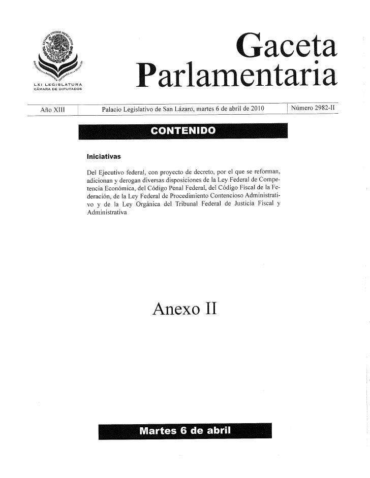 Reforma Ley Feederal De Competencia