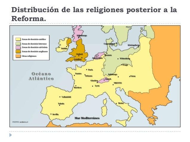 Distribución de las religiones posterior a laReforma.
