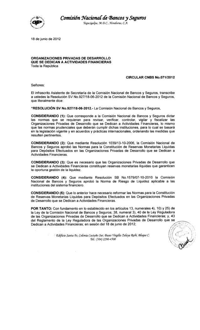 Reformas normas para la constitucion de reservas liquidas opdf